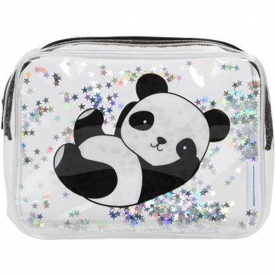 Trousse de toilette à paillettes Panda  par A Little Lovely Company