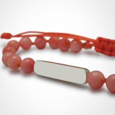 Bracelet Maracas perles (or blanc 750° et corail)