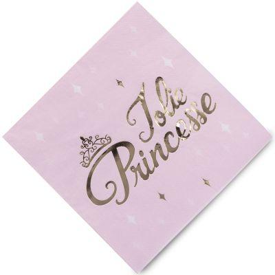 Lot de 16 serviettes en papier Jolie princesse  par Arty Fêtes Factory