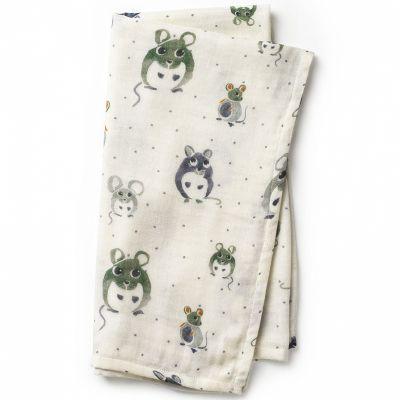 Lange en bambou et coton souris Forest Mouse (80 x 80 cm)  par Elodie Details