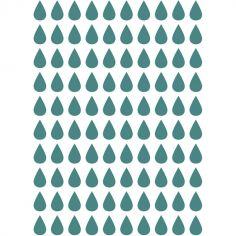 Stickers muraux gouttes bleu-vert Jungle