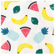 Lot de 20 serviettes en papier fruits Tutti Frutti