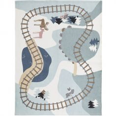 Tapis Circuit chemin de fer Edvin (130 x 170 cm)
