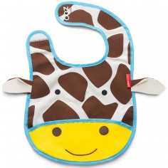 Bavoir à poche Zoo Girafe