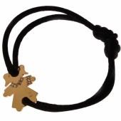 Bracelet cordon petite fille ou petit garçon parure diamant 20 mm (or jaune 750°) - Loupidou