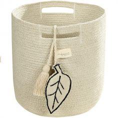 Panier de rangement Leaf en coton naturel (30 x 30 cm)