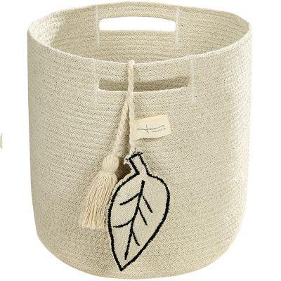 Panier de rangement Leaf en coton naturel (30 x 30 cm)  par Lorena Canals