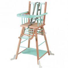 Chaise haute transformable Marcel hybride vert menthe