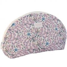 Trousse de toilette demi-lune Liberty Empress rose