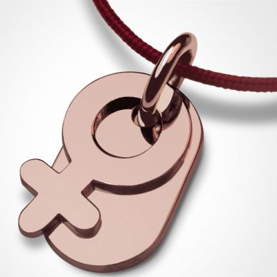 Collier cordon symbol fille (or rose 750°)  par Mikado