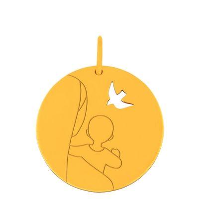 Médaille Vierge ajourée (or jaune 18 carats)  par Maison La Couronne