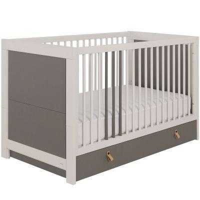 lit b b avec tiroir gris hacienda 70 x 140 cm. Black Bedroom Furniture Sets. Home Design Ideas