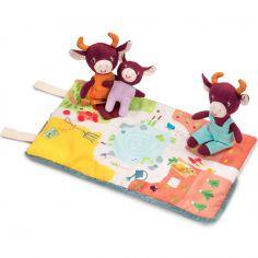 Mini peluches la famille de Rosalie la vache (10-16 cm)