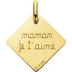 Pendentif Maman je t'aime (or jaune 750°)