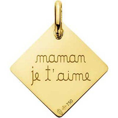 Pendentif Maman je t'aime (or jaune 750°)  par A.Augis