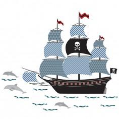Sticker Bateau de pirates