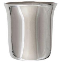 Timbale évasée unie personnalisable (métal argenté)