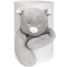 Coffret cadeau peluche Nouky gris (25 cm)