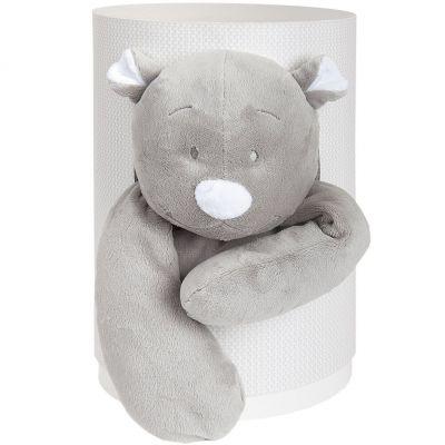 Coffret cadeau peluche Nouky gris (25 cm) Noukie's