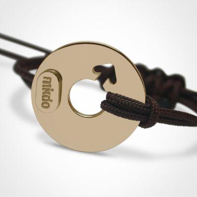 bracelet disco gar on or jaune 750 mikado. Black Bedroom Furniture Sets. Home Design Ideas