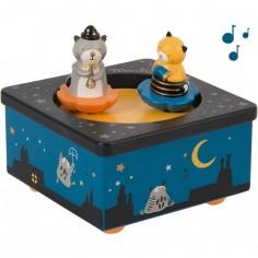 Boîte à musique magnétique chat Les Moustaches