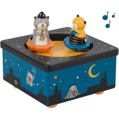 Boîte à musique magnétique chat Les Moustaches  par Moulin Roty