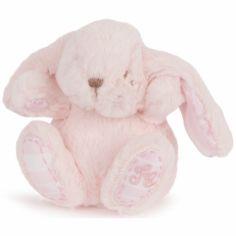 Peluche Augustin le lapin rose (12 cm)