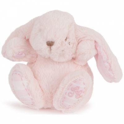Peluche Augustin le lapin rose (12 cm)  par Tartine et Chocolat