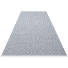 Tapis rectangulaire Checky gris (70 x 140 cm)