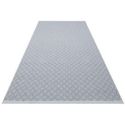 Tapis rectangulaire Checky gris (70 x 140 cm)  par Kids Depot