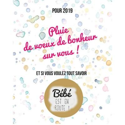 Carte à gratter Annonce de grossesse Bonheur pour 2019