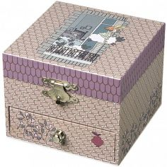Boîte à musique Cube Fille aux Moutons Volants