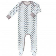 Pyjama léger Diabolo kobalt (0-3 mois : 50 à 60 cm)