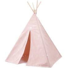 Tente tipi Phoenix White bubble Misty pink  par Nobodinoz