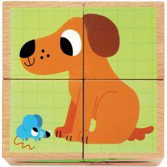 Puzzle cube Wouaf & Co (4 cubes)