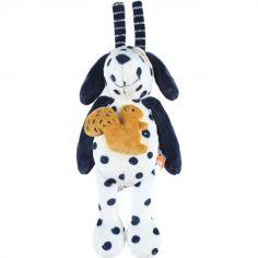Doudou musical à suspendre Aston et écureuil veloudoux Aston & Jack chien bleu (22 cm)