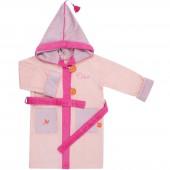 Peignoir de bain Tonkinoise rose personnalisable (4-6 ans) - L'oiseau bateau