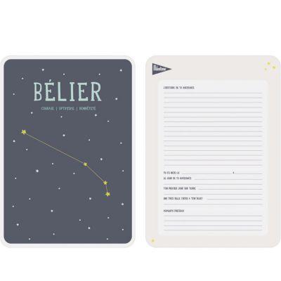 Affiche signe astrologique Bélier (21,4 x 32,5 cm)  par Milestone