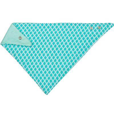 Bandana en mousseline diamants turquoise  par Lässig