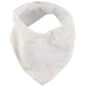 Bavoir bandana Lucky coton bio Gold bubble White - Nobodinoz