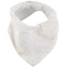 Bavoir bandana Lucky coton bio Gold bubble White