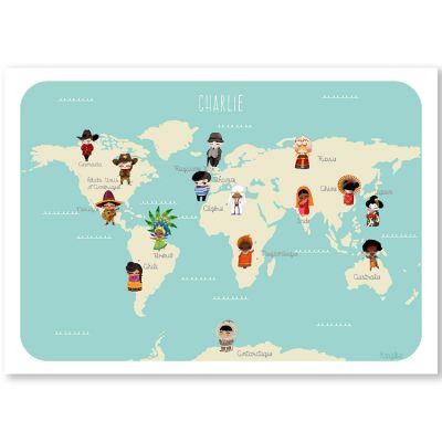 Affiche A3 Le monde des enfants (personnalisable)  par Kanzilue