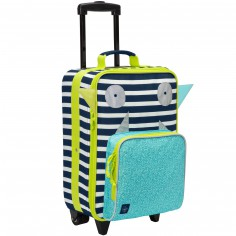 Valise trolley Little Monsters Bouncing Bob bleu