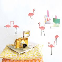 Sticker Flamant rose (19 x 26 cm)