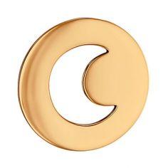 Pendentif rond Croissant de Lune ajouré (or rose 750°)