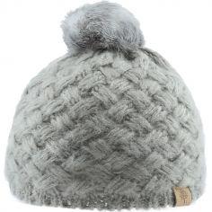 Bonnet en tricot à pompon gris (12-18 mois)