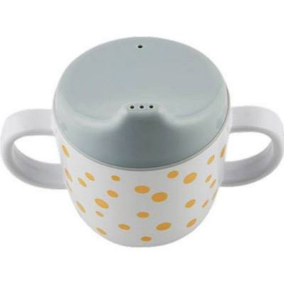 Tasse à bec Dots gris et or (230 ml)  par Done by Deer