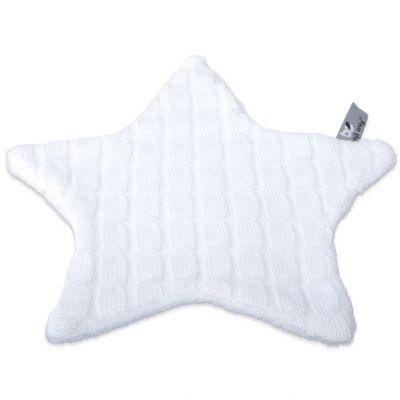 Doudou plat étoile Cable Uni blanc (30 x 30 cm) Baby's Only