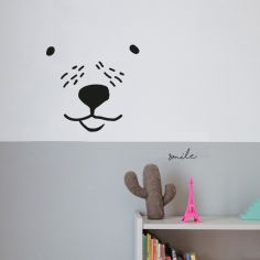 Stickers Visage d'ours