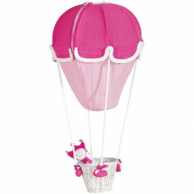 Lampe montgolfière fuchsia et rose   par Domiva
